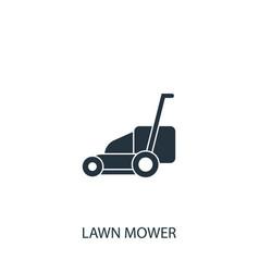 Lawn mower icon simple gardening element symbol vector