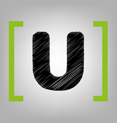 letter u sign design template element vector image