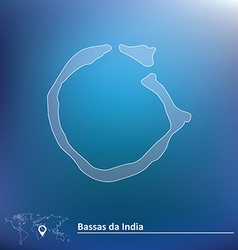 Map of Bassas da India vector image