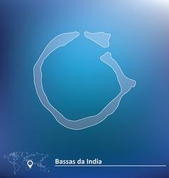 Map of bassas da india vector