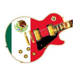 Mexican flag guitar vector