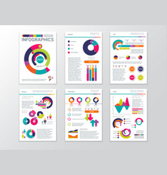modern business presentation documents with vector image