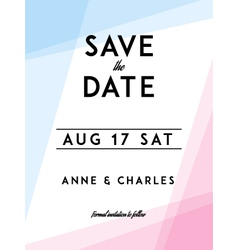 Modern Wedding Save the Date vector