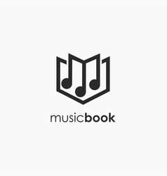 musical note book logo icon template vector image