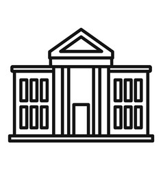 National parliament icon outline style vector