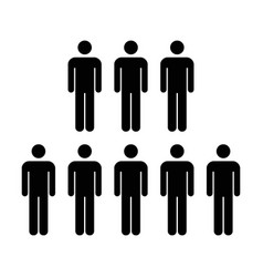 people icon - men vector image