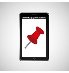 pin map mobile phone navigation vector image