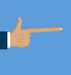 pointing long finger flat cartoon vector image