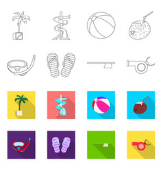 Pool and swimming logo set vector