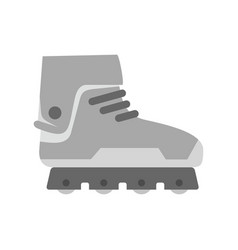 Professional inline skates icon flat style vector