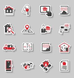 Real Estate Sticker Set vector