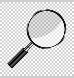 Realistic loupe sign icon in transparent style vector