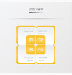 Rectangle presentation template yellow color vector