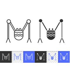Robot spider simple black line icon vector