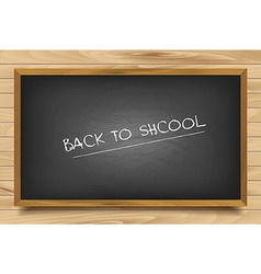 School nero Board on wooden background vector image