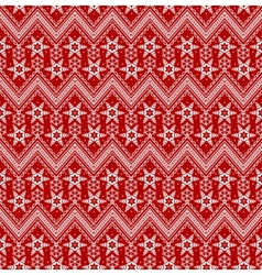 Seamless Christmas red background vector image