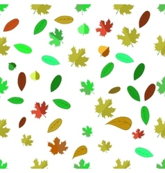 Seamless Different Leaves Pattern vector image