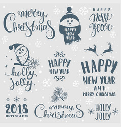 set winter holidays vector image