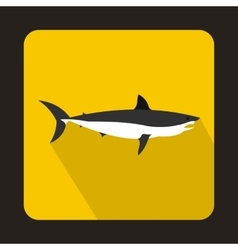 Shark icon flat style vector image