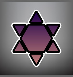 shield magen david star inverse symbol of israel vector image