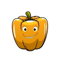 Smiling orange cartoon pepper vector image