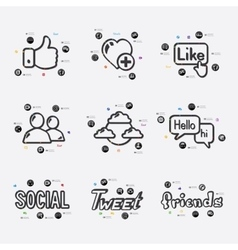 Social network infographic vector