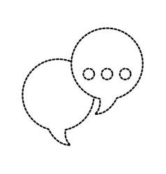 speech bubbles message conversation dialog vector image
