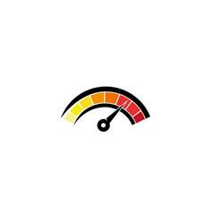 speedometer gauge for logo design vector image