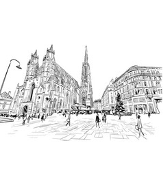 st stephens cathedral vienna austria vector image