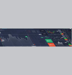 stock market perspective dashboard vector image