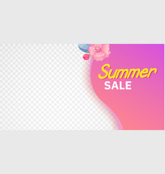 Summer season decorative corner sticker with text vector