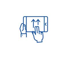 Swipe gesture line icon concept swipe gesture vector