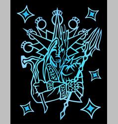Symbol with medieval legendary warrior vector
