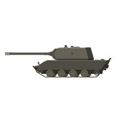 Tank german world war 2 tiger 3 heavy tank vector