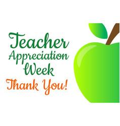 Teacher appreciation week holiday concept vector