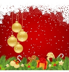template for christmas vector image vector image