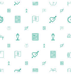 Thin icons pattern seamless white background vector