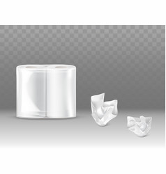 Toilet paper napkins sealed pack realistic vector