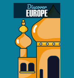Travel and discover europe vector