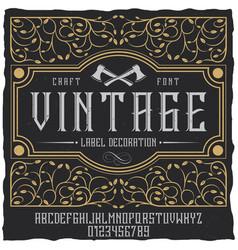 vintage label decoration poster vector image
