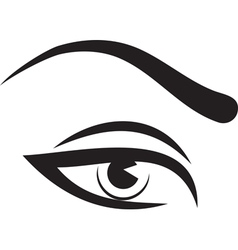 Woman eye and brow vector