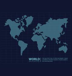 world modern background vector image