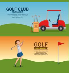 golf tournament poster design vector image