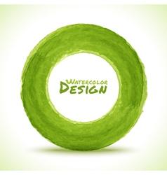 Hand drawn watercolor green circle design element vector image vector image