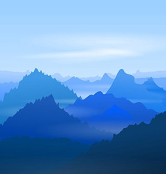Majestic Blue Mountains vector image