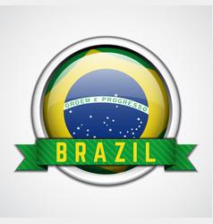 brazil badge vector image