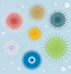 colored snowflakes vector image vector image