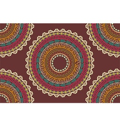 Ethnic Aztec circle ornament seamless pattern vector image