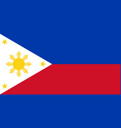 flag of republic of philippines in peacetime vector image vector image