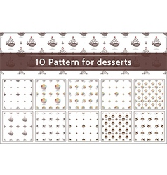Ice cream pattern collection vector image